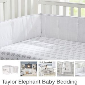 Pottery Barn Taylor Elephant Baby Bedding Set